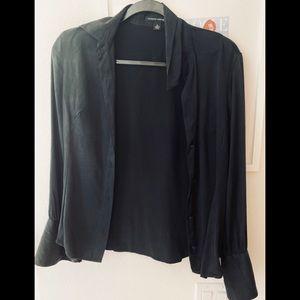 Banana republic silk blouse black